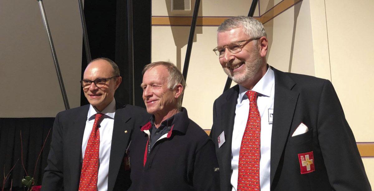 Max honoré pour l'oeuvre d'une vie (Swiss lifetime rowing award)